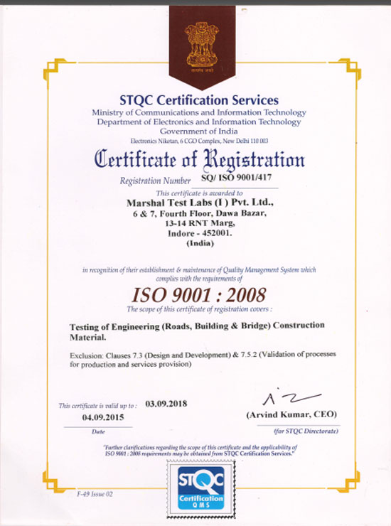 About Us | MARSHAL Test Labs (I) Pvt. Ltd : A NABL ACCREDITED LAB